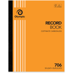 Olympic 706 Carbonless Book Duplicate 250x200mm Record 50 Leaf