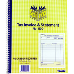 SPIRAX BUSINESS BOOK 500 Tax Invoice and Statement Quarto