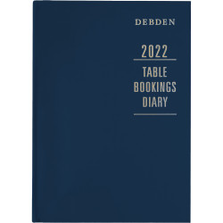 Debden Table Bookings Diary 2 Pages To A Day A4 Blue