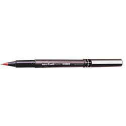 Uni-Ball UB155 Micro Deluxe Rollerball Pen Extra Fine 0.5mm Red