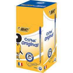 BIC CRISTAL BALLPOINT PENS Blue Pack of 50