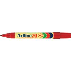 Artline 70 Permanent Marker Bullet 1.5mm Red