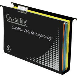 Crystalfile Suspension Files Polypropylene Heavy Duty Extra Wide 50Mm Box Of 10
