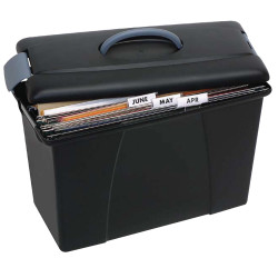 Crystalfile Carry Case 18L Foolscap Black