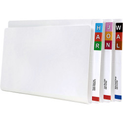 Avery Lateral File Foolscap With Permclip Fastener White Box of 100