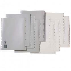 Marbig Plastic Divider A4 1-31 Tab Grey