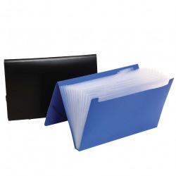 Marbig Expanding File Foolscap Polypropylene 12 Pocket Black