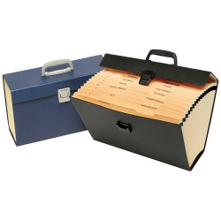 Marbig Carry Expanding File A-Z Index With Handle Assorted Black Or Blue