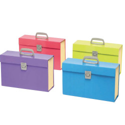 Marbig Carry Expanding File A-Z Index With Handle Assorted Summer Colours