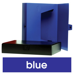 Marbig Box File A4 With Button 245Wx330Lx60Dmm Polypropylene Blue