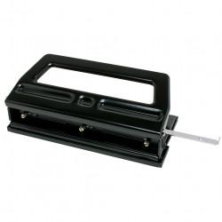 REXEL 3 HOLE PUNCH H/Duty Adjustable 40Sht Cap Black