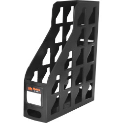 Metro Magazine Rack A4 80mm Black