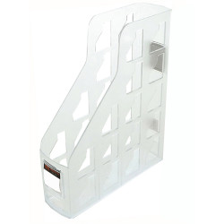 Metro Magazine Rack A4 80mm Snow/ Crystal