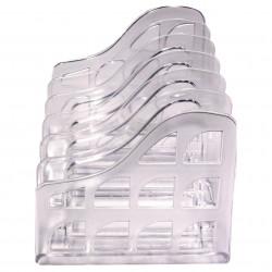 Metro File Holder Vertical Organiser Snow / Crystal