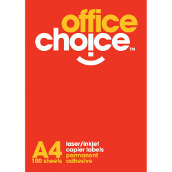 Office Choice Laser Copier & Inkjet Labels 24UP 64x33.8mm