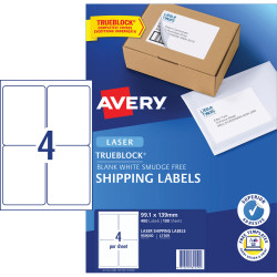 Avery Shipping Laser Labels L7169 99.1x139mm White Pack of 100 (400)