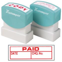 XStamper Stamp CX-BN 1533 Paid/Date/Chq No. Red
