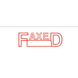 Deskmate Pre Ink Stamp F12 Faxed (Date) Red
