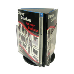Deflect-O Brochure Holder A4 Counter Top Rotating Black
