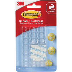 Command 17026CLR Clear Hook Decorating Clips Clear Pack of 20
