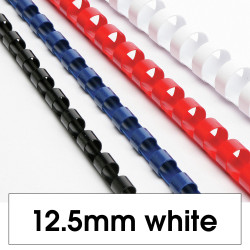 REXEL BINDING COMB 12mm 95 Sheet Capacity  White Pack of 100