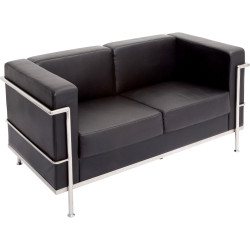 SPACE LOUNGE CHAIR Two Seater Black PU