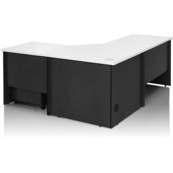 Logan Workstation 1800Wx1800Wx600mmD White & Ironstone
