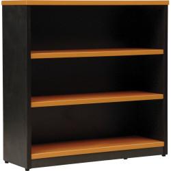 Logan Bookcase 900Hx900Wx315mmD 2 Shelves Beech & Ironstone