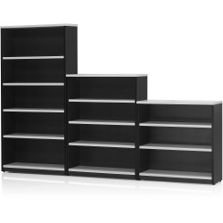 Logan Bookcase 900Hx900Wx315mmD 2 Shelves White & Ironstone