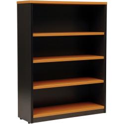 Logan Bookcase 1200Hx900Wx315mmD 3 Shelves Beech & Ironstone