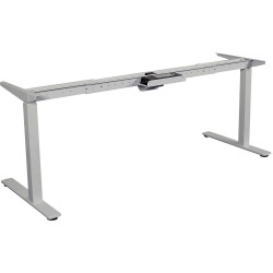 Summit Electric Height Adjustable Straight Desk Frame Only White