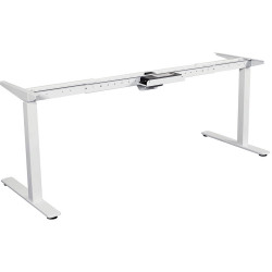 Summit Electric Height Adjustable Straight Desk Frame Only Black