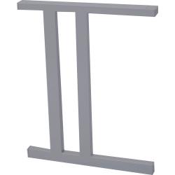 Rapid Screen Desk C Legs 705Hx550mmD Silver Pack of 2