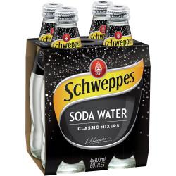 Schweppes Soda Water 300ml Bottle Pack of 4