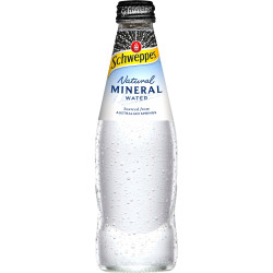 Schweppes Natural Mineral Water Bottle 300ml Pack of 24