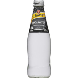 Schweppes Soda Water 300ml Bottle Pack of 24