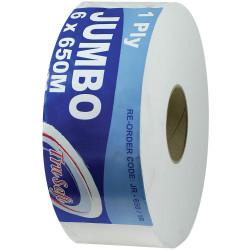 TruSoft Jumbo Toilet Rolls 1 Ply 650m Rolls Carton of 6
