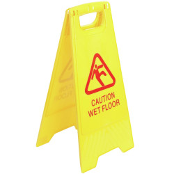 Italplast A-Frame Safety Sign Wet Floor 390x300x595mm Yellow