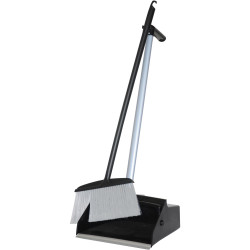 Cleanlink Lobby Pan Set Broom & Bucket Black / Grey
