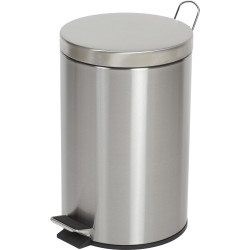 Compass Round Pedal Bin Stainless Steel 12 Litres