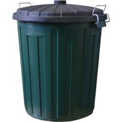Italplast Garbage Bin 55 Litres Green