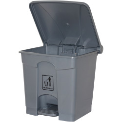 Cleanlink Rubbish Bin with Pedal Lid 30 Litres Grey