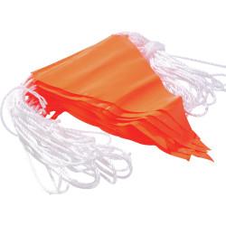 Maxisafe PVC Bunting Flagline Fluoro Orange 30m