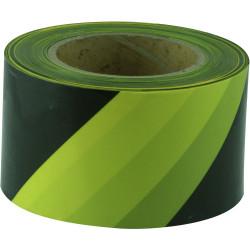 Maxisafe Barricade Tape Yellow & Black 75mm x 100m