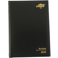 Office Choice Business Diary Week To View Quarto Black