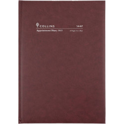 Collins Appointment Diary 2 Pages To A Day A4 Burgundy