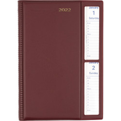Collins Belmont Pocket Diary 2 Days To A Page A5 Cherry Red