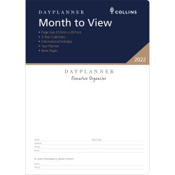 Debden Dayplanner Refill Month To View A4 Executive