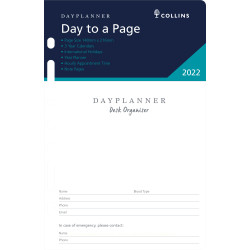 Debden Dayplanner Refill Day To A Page 140X216mm Dayplanner