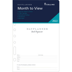 Debden Dayplanner Refill Month To View 140X216mm 216X140Mm